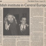 Baltic Times Mendy Cahan and Dovid Katz